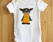 Personalized Superhero Shirt, Customized Superhero Baby Bodysuit,  Felt Applique Design, Cute Baby Clothes, Hipster Baby Shower Gift