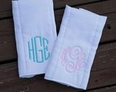 Monogrammed Initial Burp Cloth