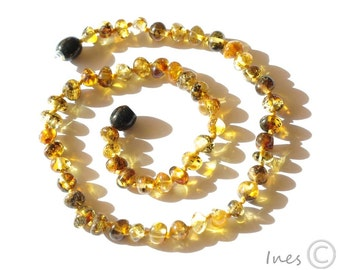 Baltic Amber Baby Teething Necklace Green Beads