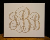 Glitter Monogram Canvas -- Looks awesome on the walls!