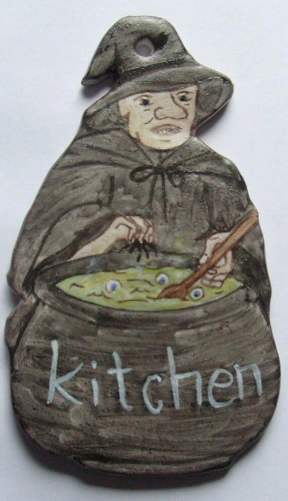 Witch Kitchen Door Plaque