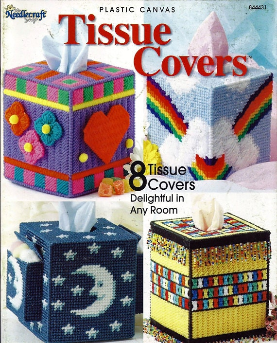 Plastic Canvas Book Cover Patterns : Tissue covers plastic canvas pattern book the by