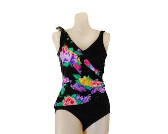 One Piece Swimsuit Black Swimsuit Women Bathing Suit Swimming Suit Floral Swimsuit Women Swimsuit Women Swim Suit Women Bathers Swimmers