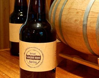 One Liter of Barrel Aged Maple Syrup - Big Bottle