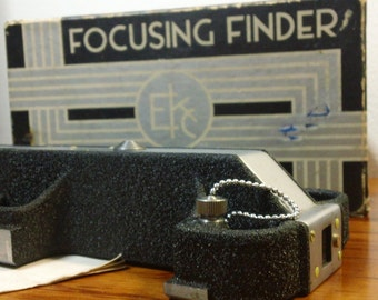 Vintage 30s-40s Eastman-Kodak Co. Focusing Finder for Magazine Cine-Kodak 16mm Movie Camera
