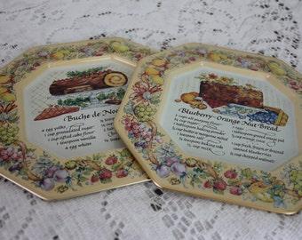 Vintage Avon Wall Hanging Pair Metal Kitchen Kitsch Recipes England