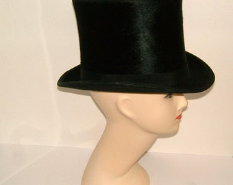 Victorian Beaver Skin Top Hat City of London Antique Top Hat Vintage Top Hat Vintage Dress Hat Gentlemans Hat