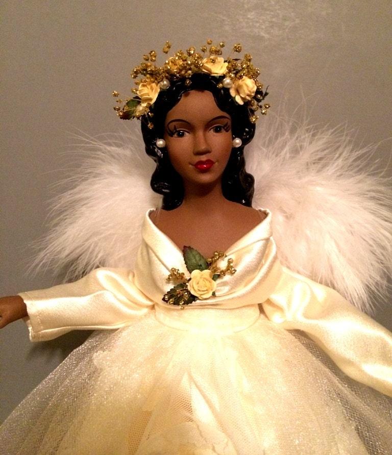 African american angel christmas tree topper by ineangelshop