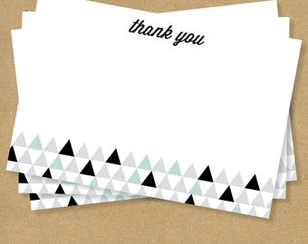 Flat THANK YOU CARDS - Triangles