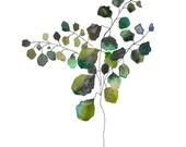 Botanical Watercolor Print.  Watercolor Leaf Art Print.