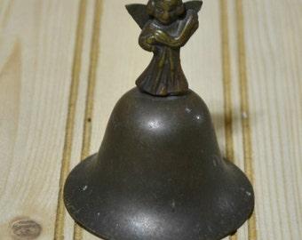 Vintage Brass Angel Bell  Cherub Christmas Decor Decoration