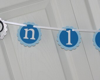 Penguin and Snowflake First Year Photo Banner, Winter Birthday, Winter Onederland Party, Snowflake Birthday