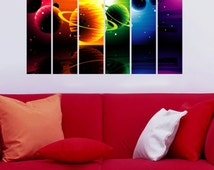 Popular items for outer space decal on etsy for Outer space vinyl wall decals