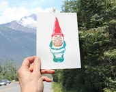 Gnome ART PRINT - Spring Garden - Digital