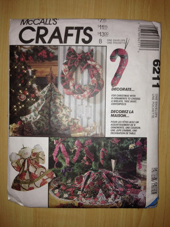 McCalls Crafts Sewing Pattern 6211 Christmas Decorations