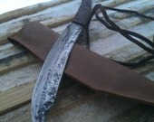 Metal file knife,hand forged,camping knife.