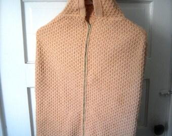Vintage Baby Blanket, Wrap Up, Bundle. Peach