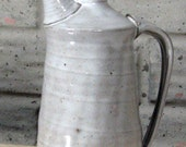 Handmade oil ewer with screw in cap