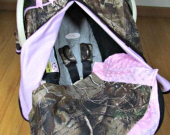 True Timber Camo Baby Boy Car Seat Blanket Canopy Car Seat