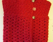 SALE*** Sleeveless Baby Sweater by Angel Kisses  3-6M Ruby Red Sparkle