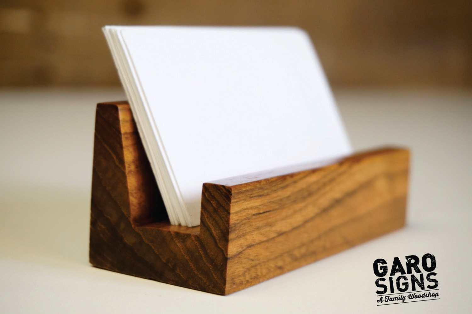 Business Card Holder, Business Card Stand, Rustic Office Decor ...