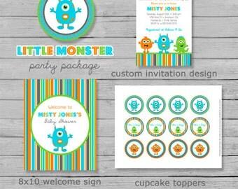 Monster Baby Shower Package - Monster Baby Shower - Boy Baby Shower - Baby Monster - Monster Shower Decor - Printable Monster Shower