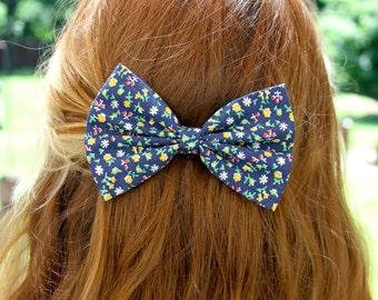SALE - Kyra Hair Bow - Floral Bow Hair Bow with Clip