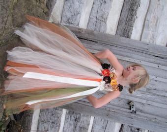 Girls fall flower girl dress, flower girl dress, thanksgiving dress, fall dress,