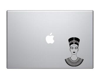 Egyptian Burial Masks #2- Nefertiti Tomb Mummy Decorative Art - Mac Apple Laptop iPad