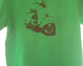 VESPA Motor Scooter NEW T-Shirt......Jade Green OR Kelly Green Medium Only