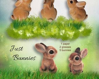 INSTANT DOWNLOAD Just Bunnies - Easter