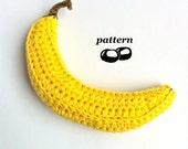 Crochet Banana Pattern / Crocheted Banana / Crochet Fruit Pattern / Crochet Food Pattern