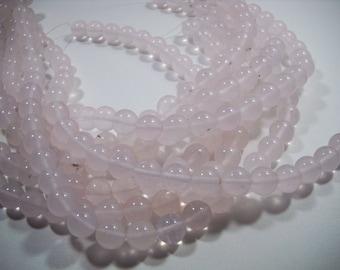 Rose Quartz Round Ball Beads 12mm