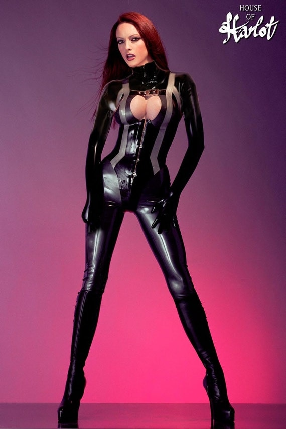 items similar to tanya two piece latex rubber corseted catsuit system on etsy. Black Bedroom Furniture Sets. Home Design Ideas