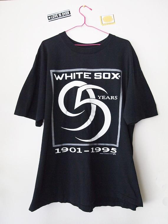 Vintage 90s White Sox Shirt 95th Anniversary Baseball Tshirt