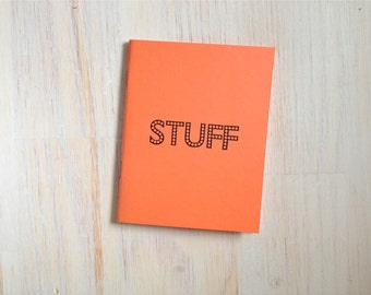 Medium Notebook: Stuff, Peach, Funny, Bright, Kids, Blank Journal, Wedding, Favor, Journal, Blank, Unlined, Unique, Gift, Notebook, D295
