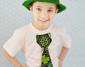 St. Patrick's Day Boys tie t-shirt, photo prop, Spring, Children Fashion, Summer, Patriotic, you pick tie, pinch proof, I'm Irish
