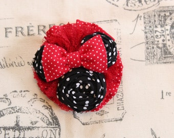 "The ""Minnie"" - Minnie Mouse Barrette or Headband"