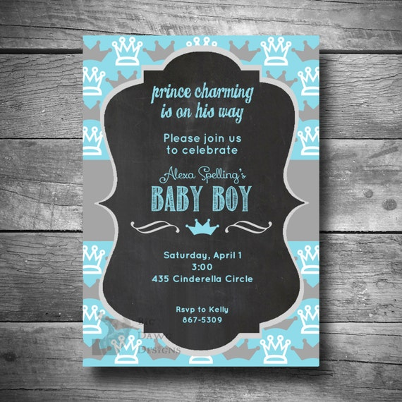 baby shower invitation baby boy shower invite diy printable email