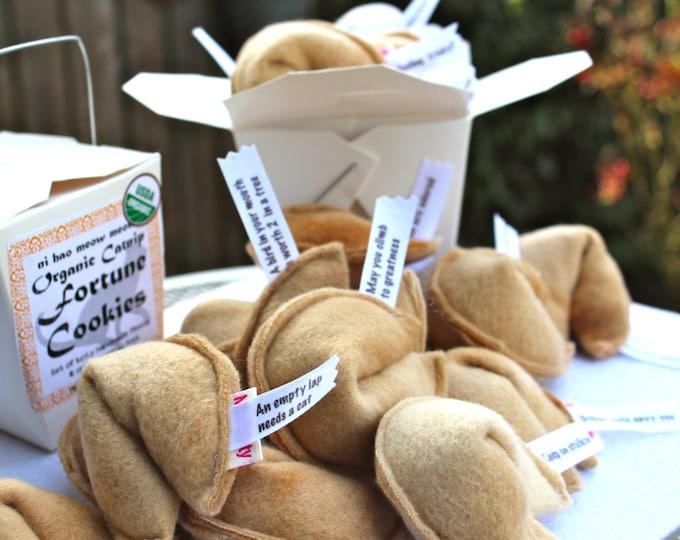 Featured listing image: Organic Catnip Fortune Cookies Vegan Cat Toys