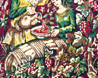 tapestry needlepoint, wine making in the middle ages france