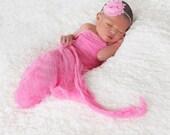 Bubblegum Pink Shabby Chic Chiffon Headband- Baby  Headband,Toddler Headband, Newborn Headband