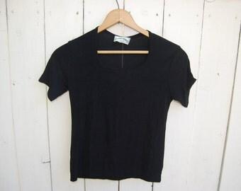 Square Neck Spandex Blend Shortsleeve 90s Shirt