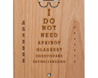 You are Entirely Amazing Wood Card