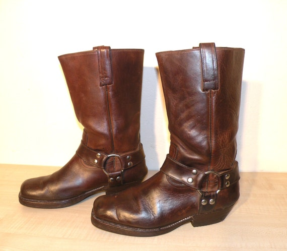 brown leather long life indiana boots size 41. Black Bedroom Furniture Sets. Home Design Ideas