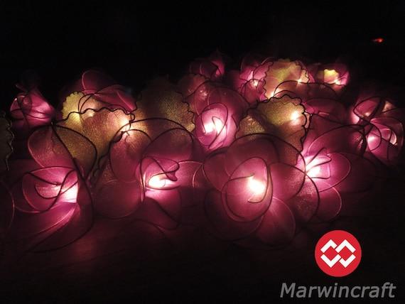 Purple String Lights For Bedroom : 20 Purple String Lights Rose Flower Fairy Lights Bedroom Home