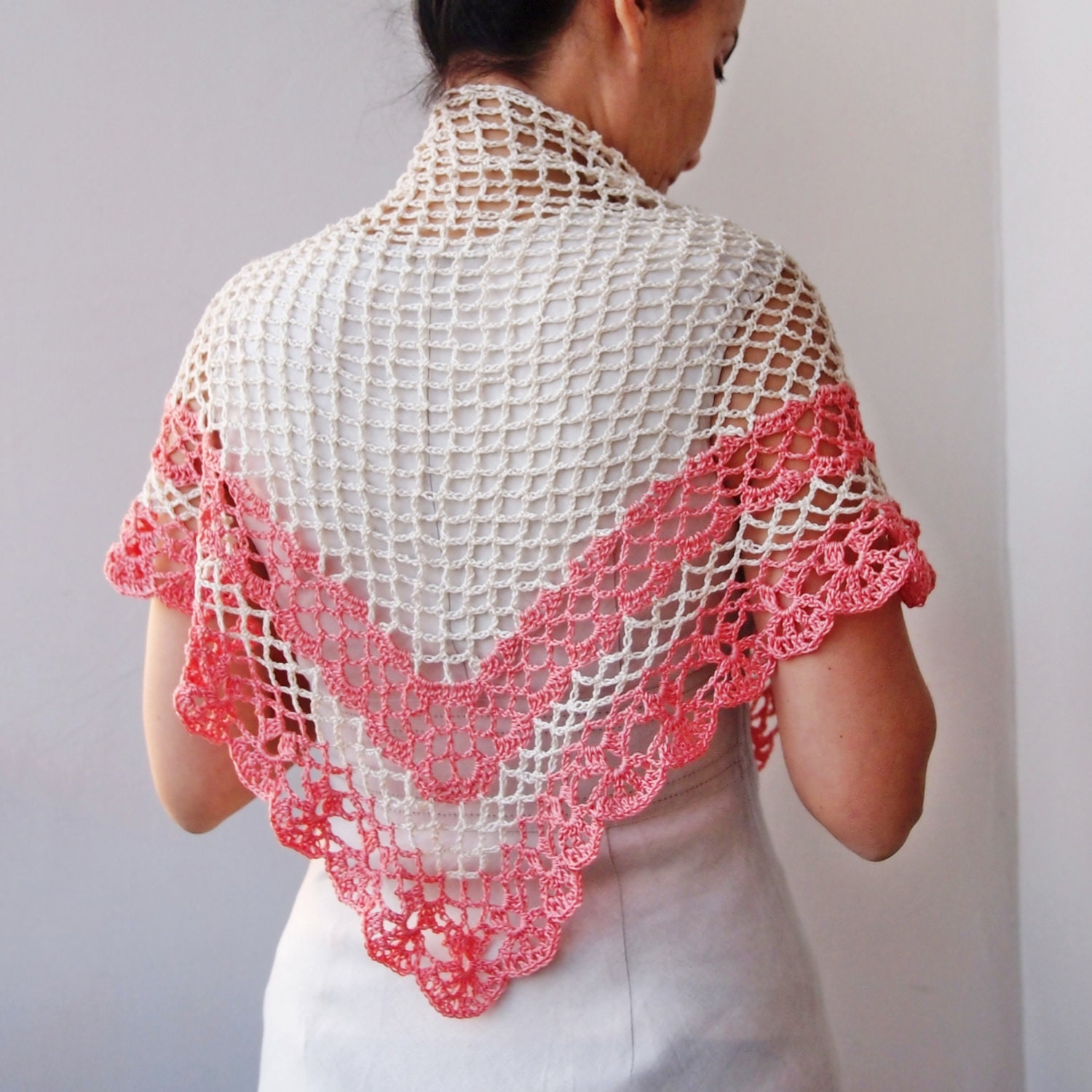 Simple Triangle Crochet Shawl Pattern : Crochet pattern shawl women triangle shawl crochet lace