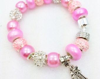 Pink Ballet European Style Charm Bracelet