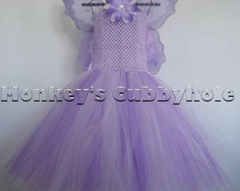 Purple Fairy Princess Tutu Dress Set