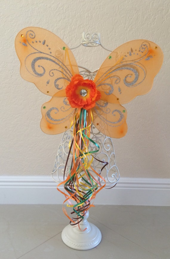 Items similar to Orange Wings, Fawn Costume, Orange Fairy ...